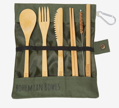 Eco-friendly Wooden Portable Utensil Kit