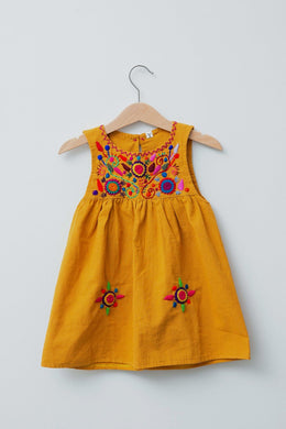 Jardinita Dress | Mustard | Global Trunk Kids