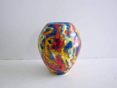 Wheel Thrown Hand Painted Porcelain Bud Vase