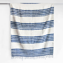 Load image into Gallery viewer, Modern Momo Blanket | Thin Stripe Indigo