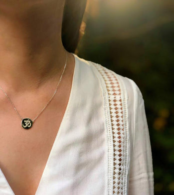 Inner Peace Silver Necklace