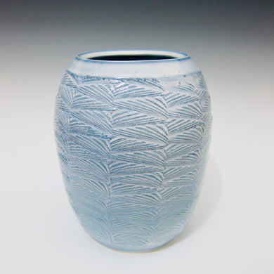 Wheel Thrown Textured Porcelain Vase