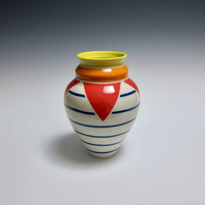 Wheel Thrown Hand Painted Porcelain Vase