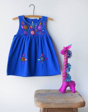 Jardinita Dress | Royal Blue | Global Trunk Kids