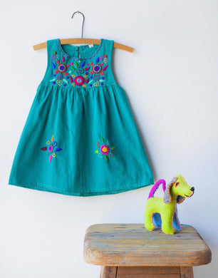 Jardinita Dress | Teal | Global Trunk Kids