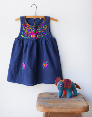 Jardinita Dress | Navy | Global Trunk Kids