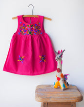Load image into Gallery viewer, Jardinita Dress | Magenta | Global Trunk Kids