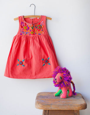 Jardinita Dress | Coral | Global Trunk Kids