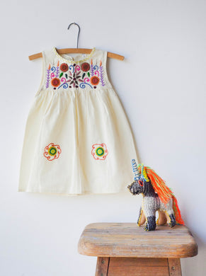 Jardinita Dress | Cream | Global Trunk Kids