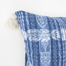 Load image into Gallery viewer, TOTO INDIGO PILLOW - WHITE TASSELS