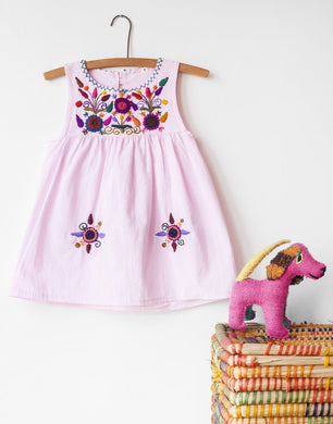Jardinita Dress | Pale Pink | Global Trunk Kids