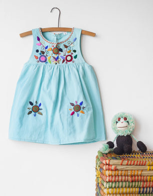 Jardinita Dress | Pale Blue | Global Trunk Kids