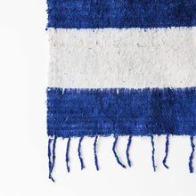 Load image into Gallery viewer, Modern Momo Blanket | Wide Stripe Indigo