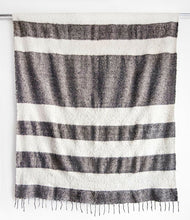 Load image into Gallery viewer, MODERN MOMO BLANKET - WIDE STRIPE - GREY