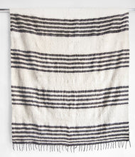Load image into Gallery viewer, MODERN MOMO BLANKET - THIN STRIPE - GREY