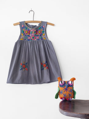 Jardinita Dress | Grey | Global Trunk Kids