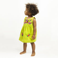 Load image into Gallery viewer, Jardinita Dress | Lime Green | Global Trunk Kids