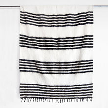 Load image into Gallery viewer, Modern Momo Blanket | Thin Stripe Black