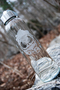 Etched Glass Water Bottles | ALL SOULS COLLECTION