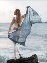 Load image into Gallery viewer, Nettle Fiber Indigo Calming Shawl
