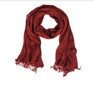 Load image into Gallery viewer, Nettle Fiber Madder Root Energizing Shawl