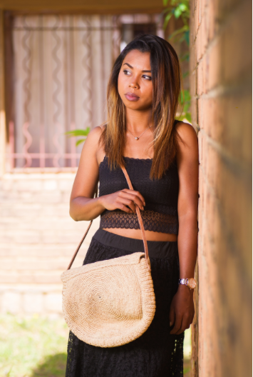 Simone Cross Body Raffia Bag