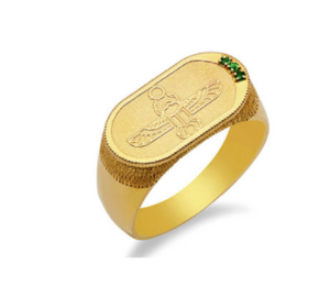 Scarab Ring | Green Emeralds
