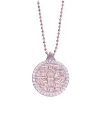 Load image into Gallery viewer, Scarab Choker | White Diamonds