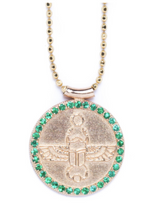 Load image into Gallery viewer, Scarab Choker | Emeralds