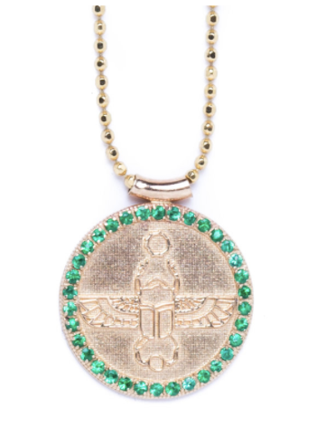 Scarab Choker | Emeralds