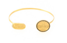 Load image into Gallery viewer, Yellow Gold with Black and White Diamonds Bracelet