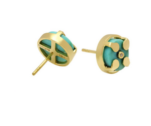 Signature Earrings | Natural Turquoise
