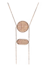 Load image into Gallery viewer, Scarab Necklace with Champagne Diamonds
