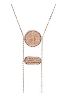 Scarab Necklace with Champagne Diamonds