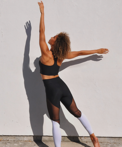 Sana Terra Black/White Mesh Leggings