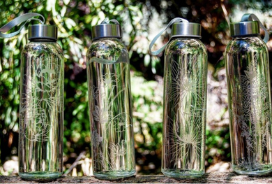 Etched Water Bottles | THE FLORAL COLLECTION