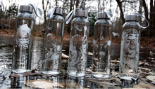 Load image into Gallery viewer, Etched Glass Water Bottles | ALL SOULS COLLECTION