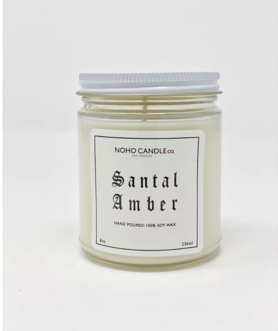 Santal Amber | Classic Glass Candle Jar
