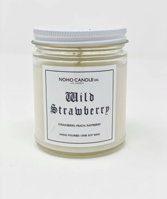 Wild Strawberry | Classic Glass Candle Jar