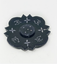 Load image into Gallery viewer, Black Soapstone Incense Burner