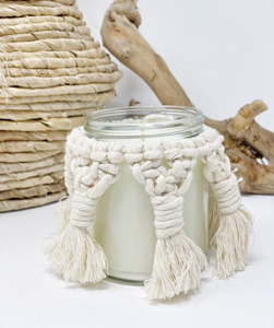 Hand-woven Macrame Candle Cover