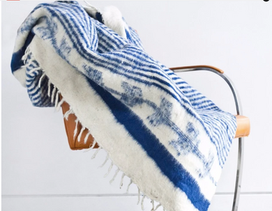 Traditional Momo Blanket | Indigo