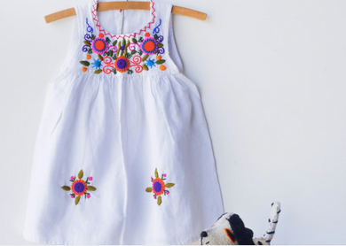 Jardinita Dress | White | Global Trunk Kids