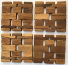 Load image into Gallery viewer, Teak Coasters (set of 4) IPM082