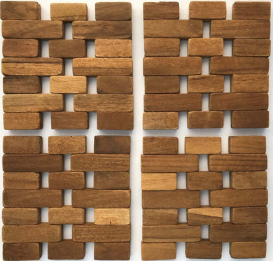 Teak Coasters (set of 4) IPM001