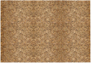 Woven Teak Indoor/Outdoor Floor Rug 5' x 8' IPM002