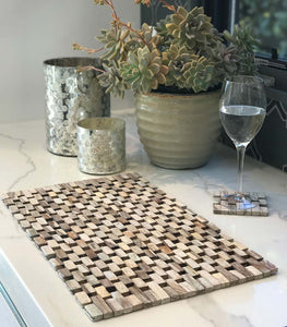 Whitewashed Rosewood Placemats (set of two) IPM001