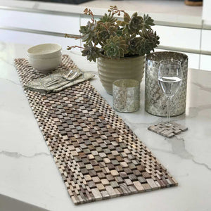 Whitewashed Rosewood Table Runner IPM082