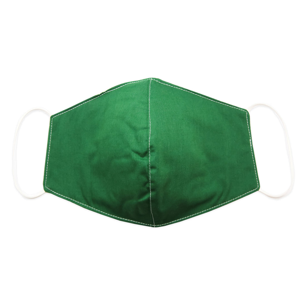 Mask-Mart Solid Color Face Mask, 100% Cotton - Evergreen