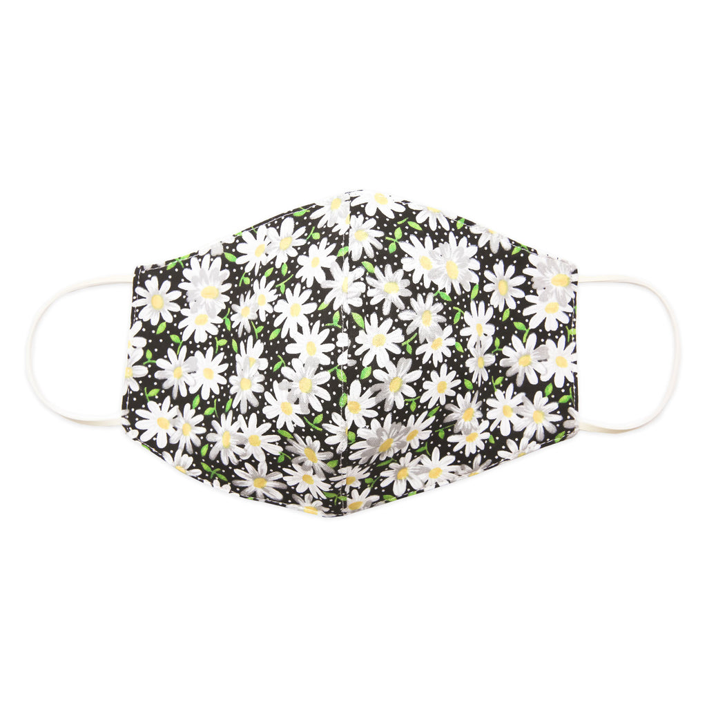 Mask-Mart Floral Pattern Face Mask, 100% Cotton - Daisy Night